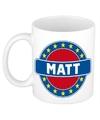 Matt naam koffie mok beker 300 ml