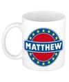 Matthew naam koffie mok beker 300 ml