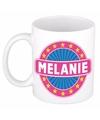 Melanie naam koffie mok beker 300 ml
