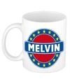 Melvin naam koffie mok beker 300 ml