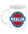 Merlijn naam koffie mok beker 300 ml