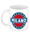 Milano naam koffie mok beker 300 ml