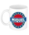 Miquel naam koffie mok beker 300 ml