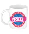 Molly naam koffie mok beker 300 ml