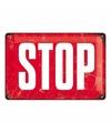 Muurplaatje rood stopbord
