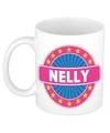 Nelly naam koffie mok beker 300 ml