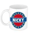 Nicky naam koffie mok beker 300 ml