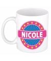 Nicole naam koffie mok beker 300 ml