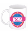 Nora naam koffie mok beker 300 ml