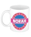 Norah naam koffie mok beker 300 ml