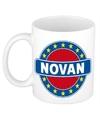 Novan naam koffie mok beker 300 ml