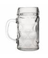 Oktoberfest voordelige bierpullen bierglazen 1 liter