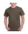 Olijfgroene team shirts voor volwassen