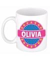 Olivia naam koffie mok beker 300 ml