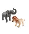 Opblaasbare dierenset olifant en leeuw