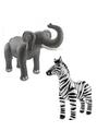 Opblaasbare dierenset olifant en zebra