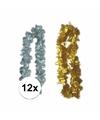 Oud en nieuw accessoires pakket bloemenkrans zilver goud 12x