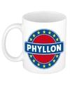 Phyllon naam koffie mok beker 300 ml