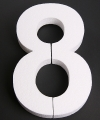 Cijfer acht van piepschuim 25 cm