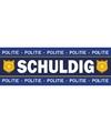 Politie schuldig sticker 6 x 19 cm