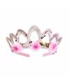 Prinsessen kroontje zilver voor meisjes
