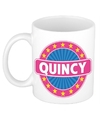 Quincy naam koffie mok beker 300 ml