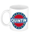 Quintin naam koffie mok beker 300 ml
