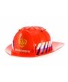 Rode brandweer helm voor kinderen