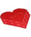 Rode servetten in de vorm van een hart 20 stuks