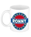 Ronny naam koffie mok beker 300 ml