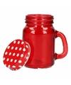 Rood shot glas met deksel
