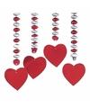 Decoratie spiraal liefde met hartjes