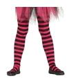 Roze zwart gestreepte panty 15 denier voor meisjes