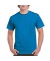 Saffier blauwe team shirts voor volwassen