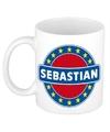 Sebastian naam koffie mok beker 300 ml