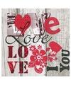 Valentijn versiering servetten I love you