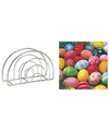 Servettenhouder met pasen servetten met gekleurde eieren