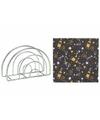 Servettenhouder met zwarte nieuwjaar servetten sterren