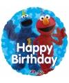 Sesamstraat verjaardags folie ballon 43cm