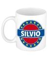 Silvio naam koffie mok beker 300 ml
