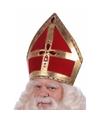 Sinterklaas luxe sinterklaas mijter fluweel