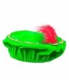 Sinterklaas pieten baret groen met led verlichting voor kinderen