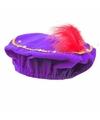 Sinterklaas pieten baret paars met led verlichting voor kinderen
