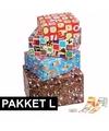 Sinterklaas sint cadeaupapier pakket l met etiketten