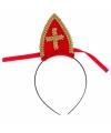 Sinterklaas sinterklaas diadeem met mijter voor volwassenen