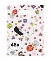 Sinterklaas sinterklaas snoep print feestzakjes 48 stuks