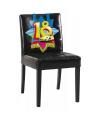 18 jaar versiering voor aan een stoel