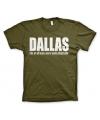 Olijf groen Dallas t-shirt