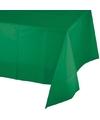 Tafelkleed groen 137 x 259 cm plastic