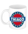 Thiago naam koffie mok beker 300 ml